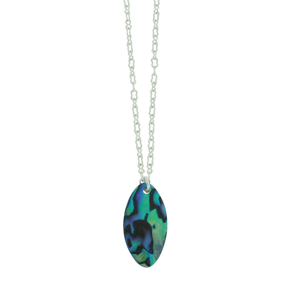 Vibrant Paua Necklace | Oval