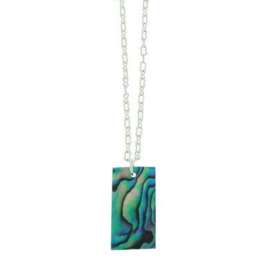 Vibrant Paua Necklace | Rectangle