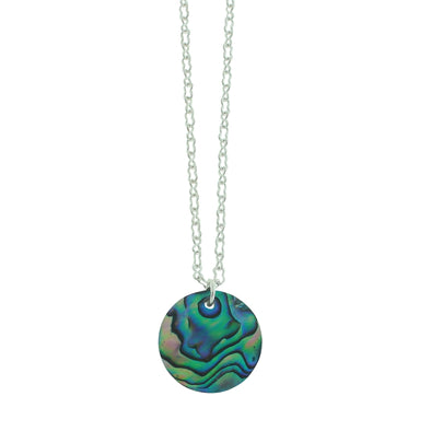Vibrant Paua Necklace | Round