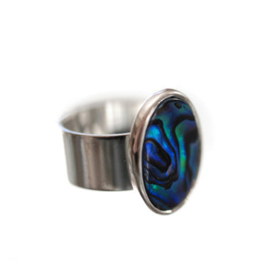Vibrant Paua Ring | Oval