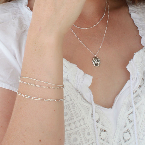 Sterling Silver chain necklaces and bracelets
