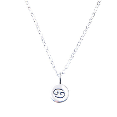 Sterling silver Zodiac Cancer necklace