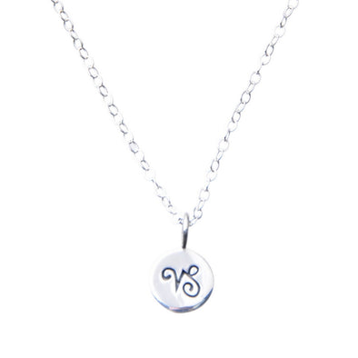 Sterling Silver Zodiac Capricorn Star sign necklace.