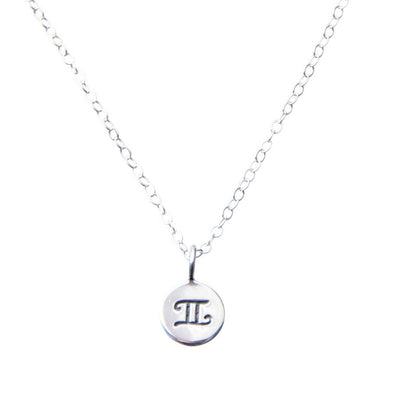 Sterling Silver Zodiac Gemini Star sign necklace.