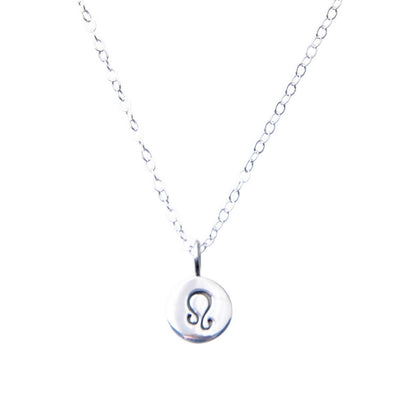 Sterling Silver Zodiac Leo star sign necklace.