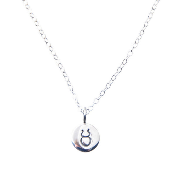 Sterling Silver Zodiac Taurus star sign necklace.