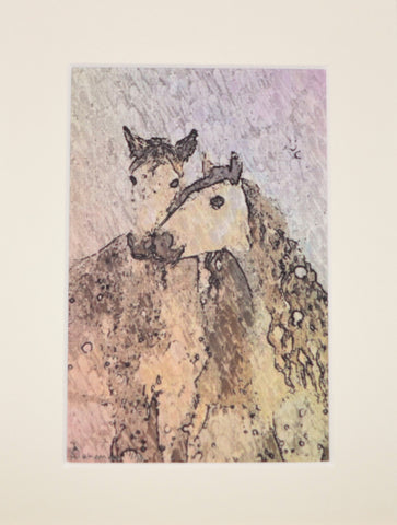 Two Horses In The Snow - Limited Edition Print