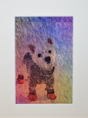 Dog In Socks - Original