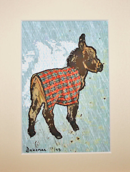 Donkey In Plaid - Limited Edition Print
