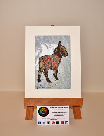 Donkey In Plaid - Original