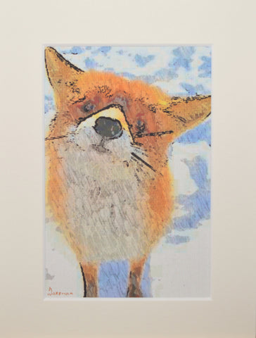 Fox Looking - Limited Edition Print