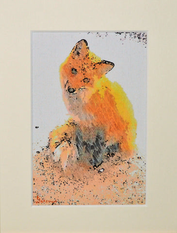Fox Sitting - Limited Edition Print