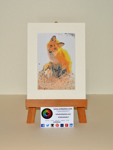 Fox Sitting - Original