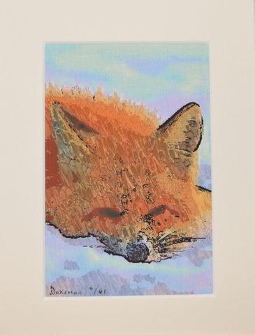 Fox Sleeping - Limited Edition Print