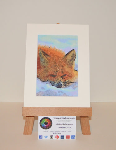 Fox Sleeping - Original