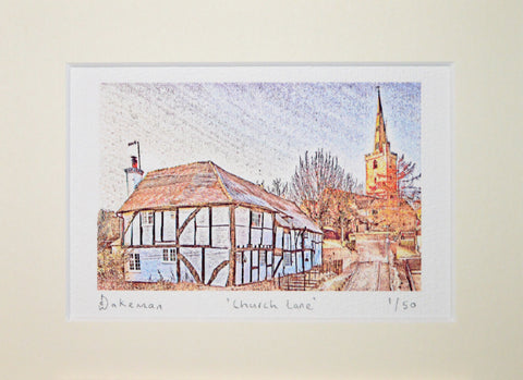 Church Lane Halesowen - Limited Edition Prints