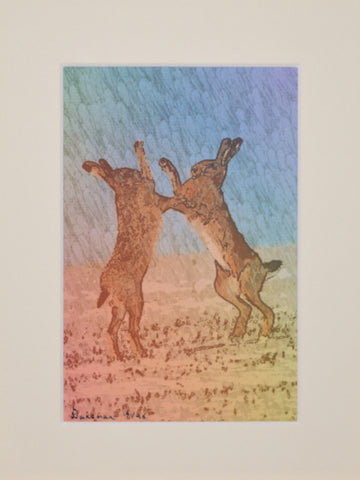 Boxing Hares - Limited Edition Print