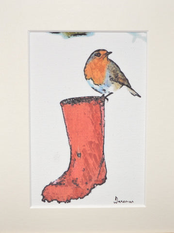 Robin On Welly - Limited Edition Print