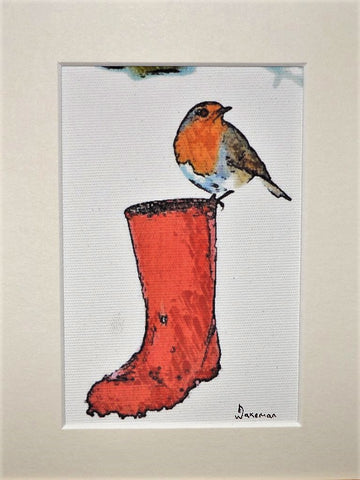 Robin On Welly - Original
