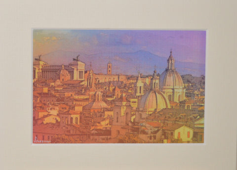 Rome Roof Tops - Limited Edition Print