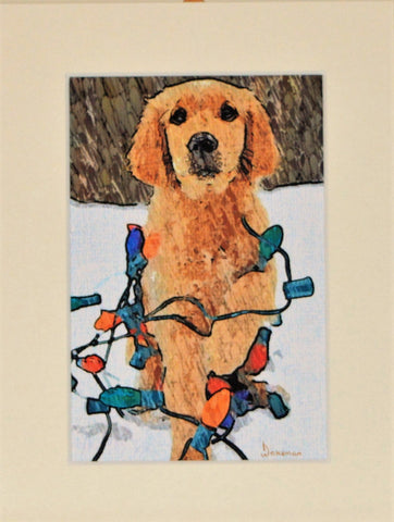 Dog With Lights - Limited Edition Print