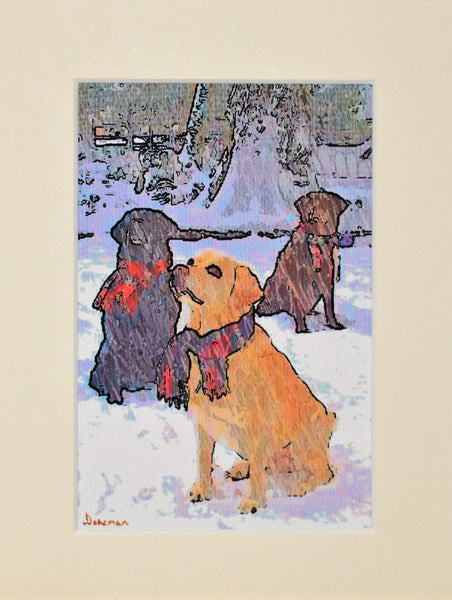 Dogs In Scarves - Limited Edition Prints