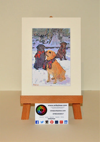 Dogs In Scarves - Original
