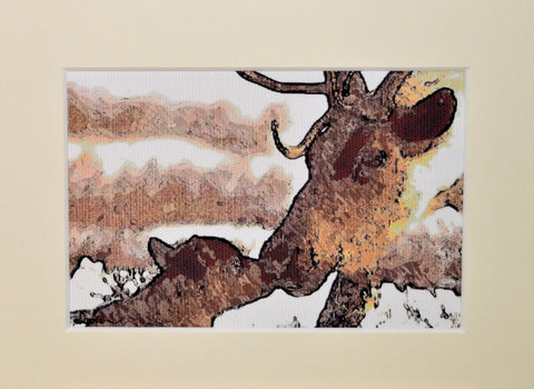 Reindeer & Calf - Limited Edition Print