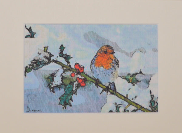 Robin On Branch - Limited Edition Print