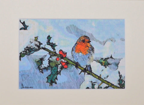 Robin On Branch - Original