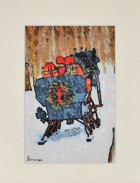 Horse With Sleigh - Limited Edition Print