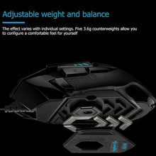 Load image into Gallery viewer, Logitech G502 Hero Master Gaming Mouse 16000DPI RGB Backlight Programmable Mouse for PUBG LOL Desktop Laptop PC Mouse