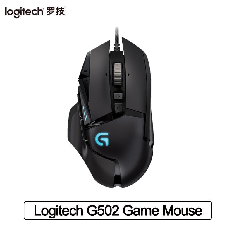Logitech G502 Hero Master Gaming Mouse 16000DPI RGB Backlight Programmable Mouse for PUBG LOL Desktop Laptop PC Mouse