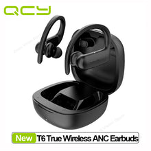 Load image into Gallery viewer, QCY T6 Wireless Sports Earphones Bluetooth 5.0 Hook-in-ear Stereo HiFi Sound Headset Smart Touch and APP Customization waterproof wifi earbuds