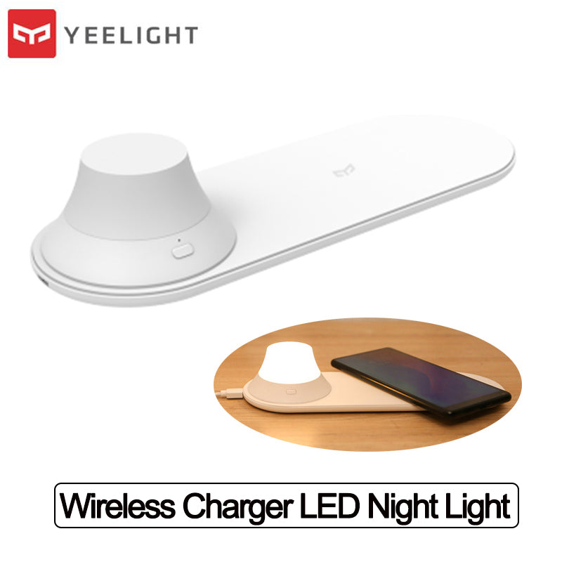 Yeelight Wireless Charger LED Night Light Magnetic Attraction Fast Charging for iPhone Huawei xiaomi phones Xiaomi Ecosystem Product