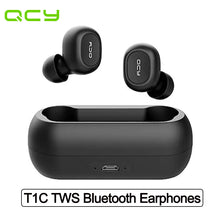 Load image into Gallery viewer, QCY T1C TWS Wireless Earphone Bluetooth V5.0 IPX4 Waterproof Headphones with Microphone Portable Sports Headset