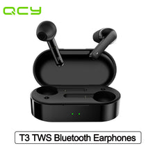 Load image into Gallery viewer, QCY T3 TWS Wireless Earphones Bluetooth V5.0 Waterproof Fingerprint Touch 3D Stereo Headphones Dual-Mic Noise Cancelling Earphones