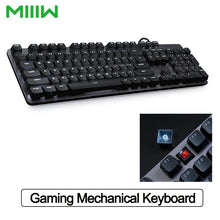Load image into Gallery viewer, MIIIW Gaming Mechanical Keyboard 600K 104 Keys Red Switch USB Wired Computer Gaming Keyboard 6 Mode White LED Backlights Keyboard for Office PC Laptop