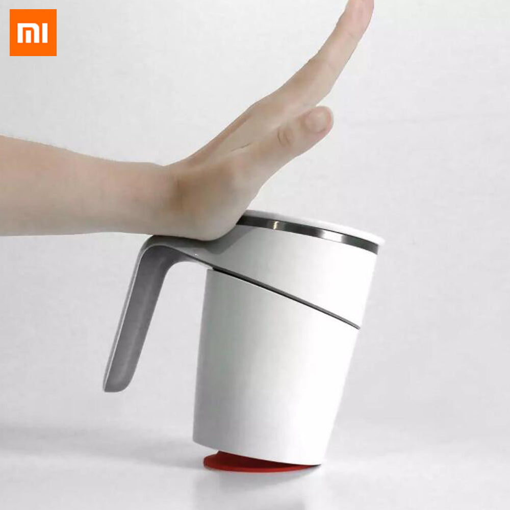 Xiaomi Fiu Non-slip Sucker Pouring Cup Stainless Double Safe Splash Proof Leakproof Magic Nonslip Sucker Pouring Cup