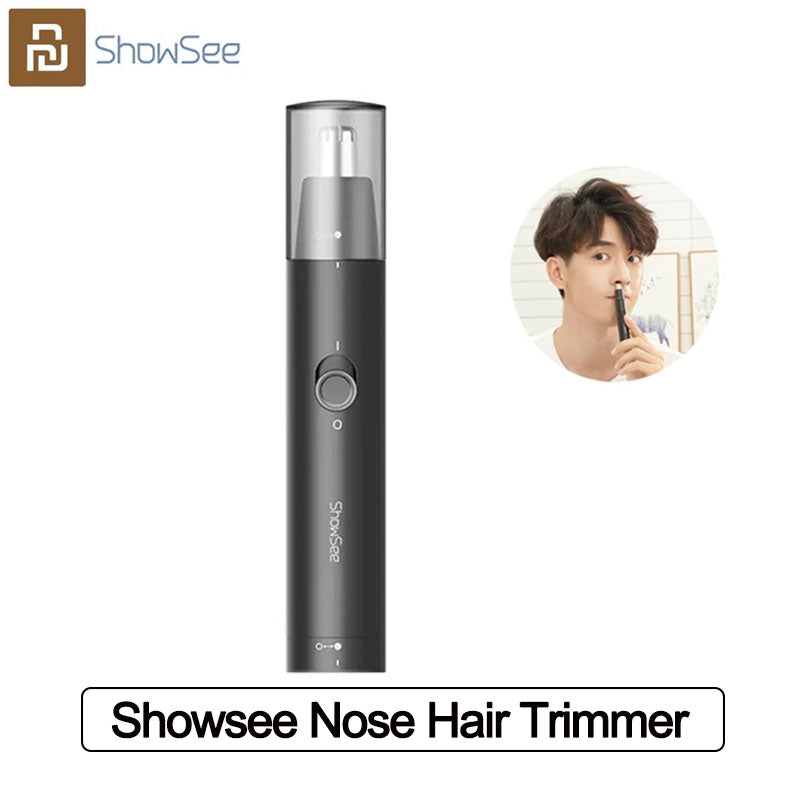 Showsee Electric Mini Nose Hair Trimmer Portable Ear Nose Hair Shaver hair Clipper Waterproof Safe Cleaner from Xiaomi Youpin