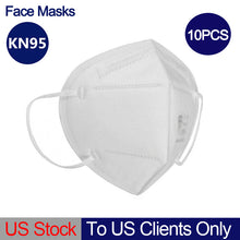 Load image into Gallery viewer, 10PCS KN95 Face Mask Anti-flu Respirator Anti Virus KN95 Masks Breathable Protective Non-Medical Masks to US Clients Only