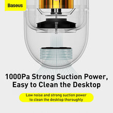 Load image into Gallery viewer, Baseus C2 Desktop Vacuum Cleaner Portable Mini Handheld Desk Cleaning Tool for PC Laptop Keyboard School Classroom Office