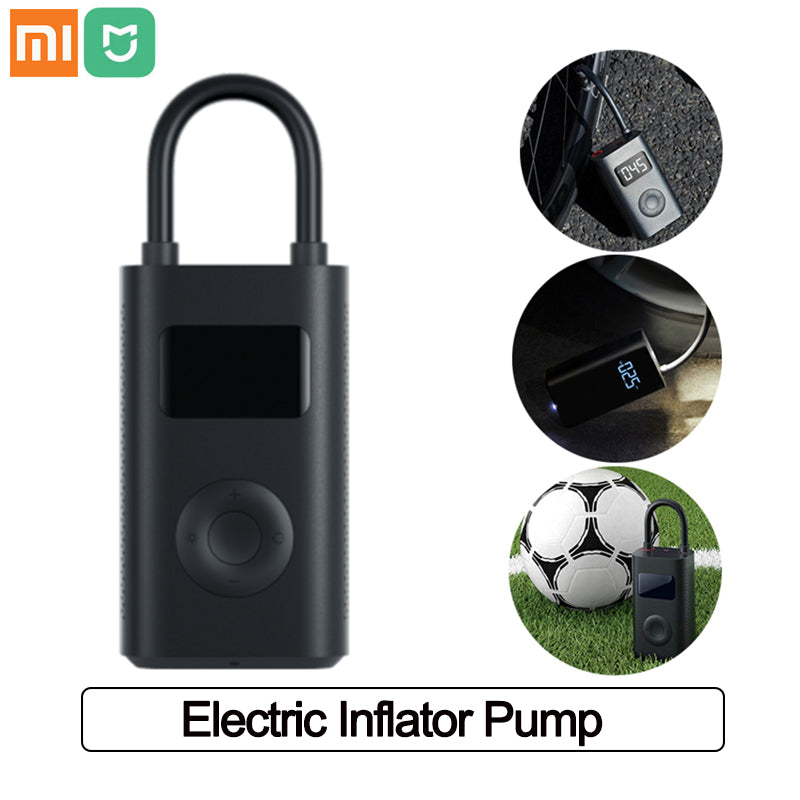 Xiaomi Mijia Inflator Portable Smart Digital Inflator Tire Pressure Sensor Electric Pump for Motorcycle Car Football