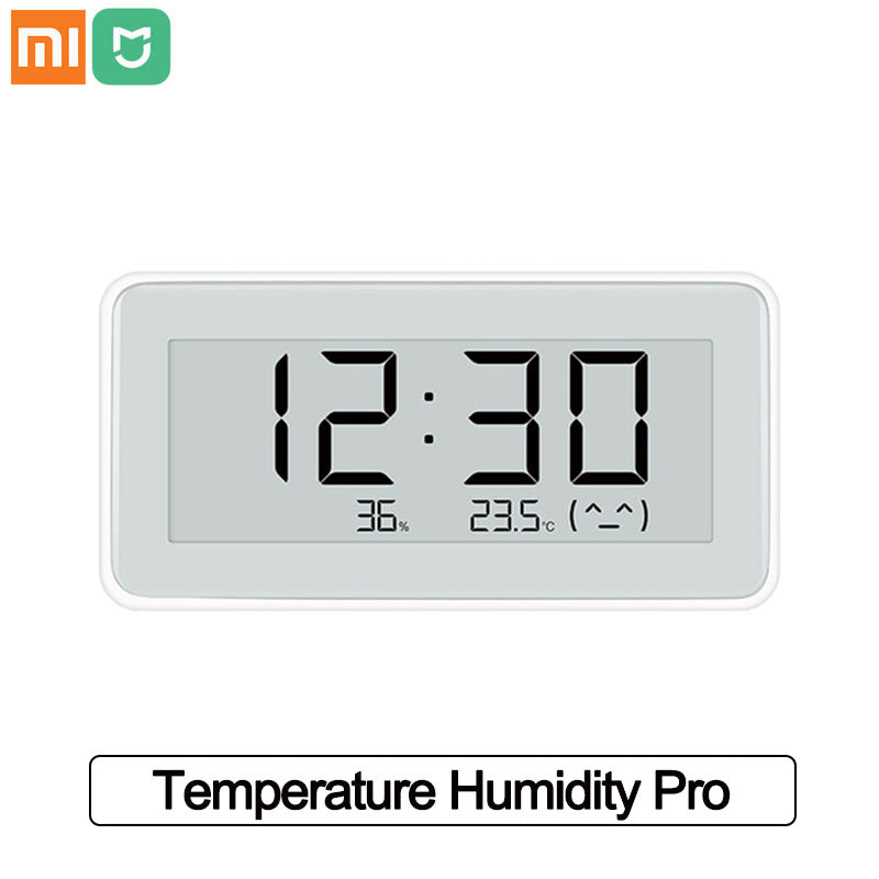 Xiaomi Mijia Smart Temperature Humidity Pro BT 4.0 Wireless Smart Electronic Digital Clock  Indoor Hygrometer ThermometerLCD Temperature Measuring Tools