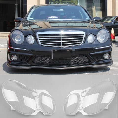 Headlight Lens Replacement Cover Left+Right For Benz W211 E350/300/200 2002-2008 Generic