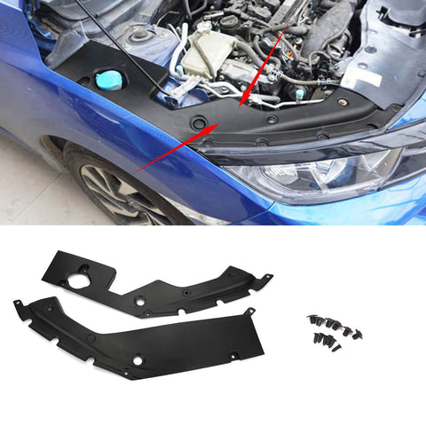 2x Engine Bay Side Panel Covers Replace Trims For 2016-2019 10th Gen Honda  Civic Generic
