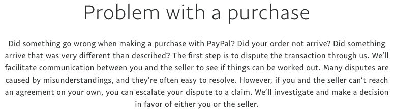 How to open a dispute in PayPal