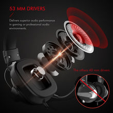 Load image into Gallery viewer, Wired Headset Gamer Surround Sound & HD Microphone - 3.5mm