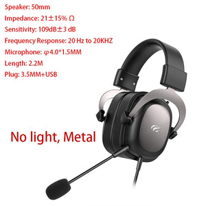 Wired Headset Gamer Surround Sound & HD Microphone - 3.5mm