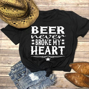 Country Love™️ Beer Never Broke My Heart Tee